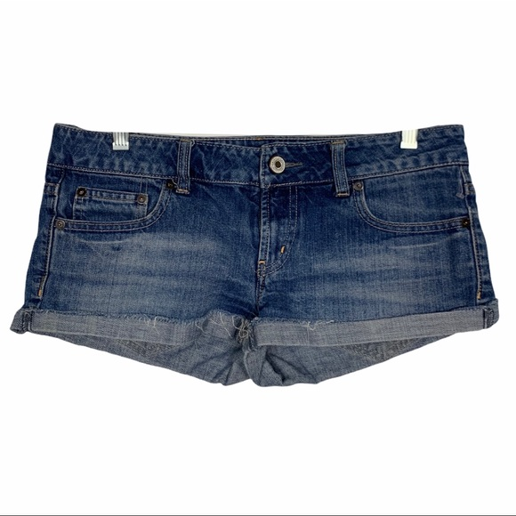 American Eagle Distressed Shortie Shorts
